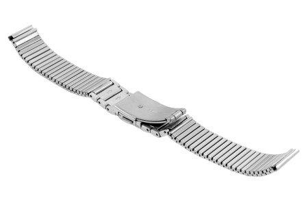 Bransoleta rozciągana do zegarka 16 mm Bisset BM-106/16 Silver