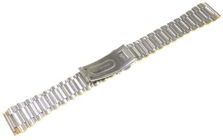 Bransoleta stalowa bicolor do zegarka 18 mm JVD KT 053-18