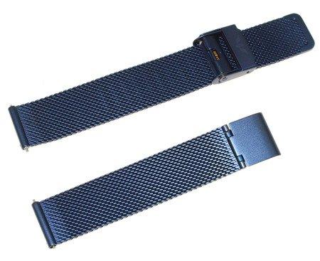 Bransoleta stalowa do zegarka 16 mm Bisset BM-101/16 Blue