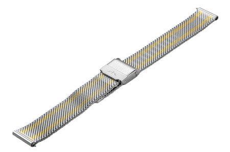 Bransoleta stalowa do zegarka 16 mm Bisset BM-101/16 TT Gold