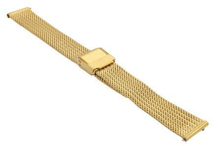 Bransoleta stalowa do zegarka 16 mm Bisset BM-104/16 Gold Mat