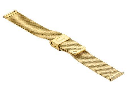 Bransoleta stalowa do zegarka 18 mm Bisset BM-101/18 Gold