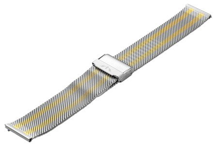 Bransoleta stalowa do zegarka 18 mm Bisset BM-101/18 TT Gold