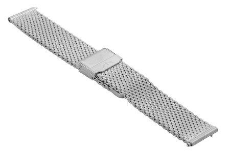 Bransoleta stalowa do zegarka 18 mm Bisset BM-102/18 Silver Mat