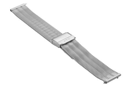Bransoleta stalowa do zegarka 18 mm Bisset BM-103/18 Silver