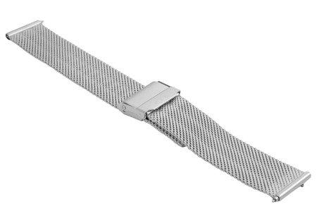 Bransoleta stalowa do zegarka 18 mm Bisset BM-103/18 Silver Mat