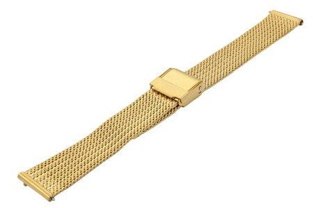 Bransoleta stalowa do zegarka 18 mm Bisset BM-104/18 Gold Mat