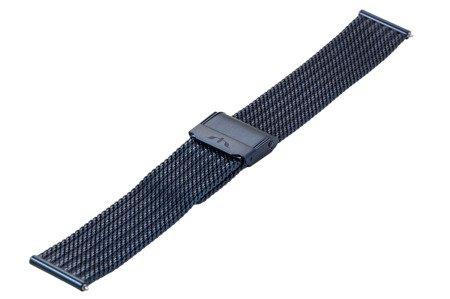 Bransoleta stalowa do zegarka 18 mm Bisset BM-105/18 Blue