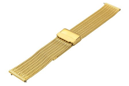 Bransoleta stalowa do zegarka 18 mm Bisset BM-105/18 Gold