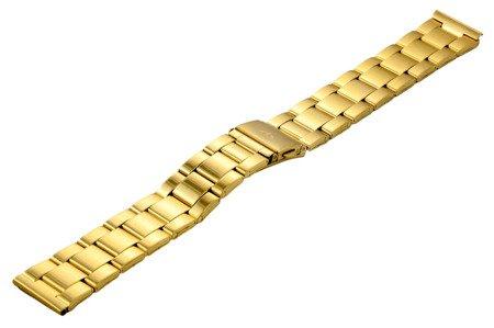 Bransoleta stalowa do zegarka 20 mm BR-119/20 Gold Mat