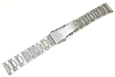 Bransoleta stalowa do zegarka 20 mm Bisset BR20.02 Silver