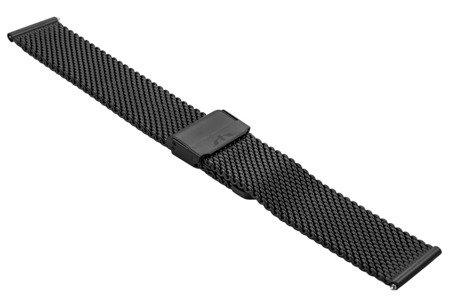 Bransoleta stalowa do zegarka 24 mm Bisset BM-102/24 Black Mat