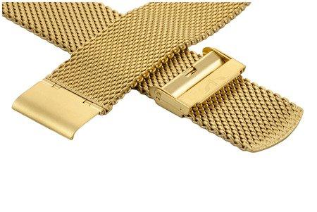 Bransoleta stalowa do zegarka 24 mm Bisset BM-102/24 Gold Mat
