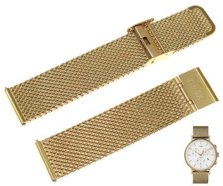 Bransoleta stalowa do zegarka Timex TW2R27200 20 mm Mesh Gold