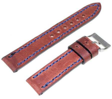 Brązowy skórzany pasek do zegarka 20 mm Tekla W24.20 Hand Made