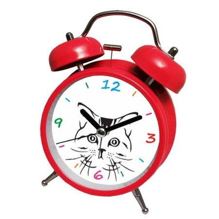 Budzik Atrix ATB045RE Bell Alarm Kotek