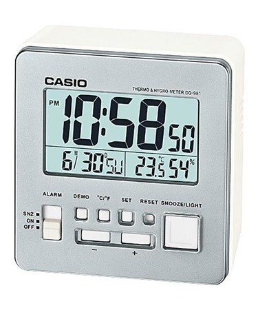 Budzik Casio DQ-981-8ER Termometr Higrometr
