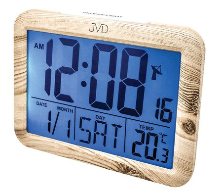 Budzik JVD RB27.1 Termometr DCF77 Dwa Alarmy