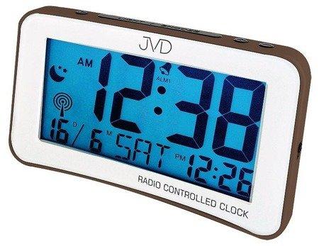 Budzik JVD RB860.4 Dwa alarmy, DCF77