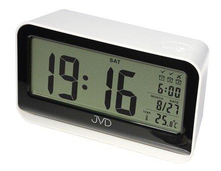 Budzik JVD SB130.3 Termometr, Sensor Light, 3 alarmy