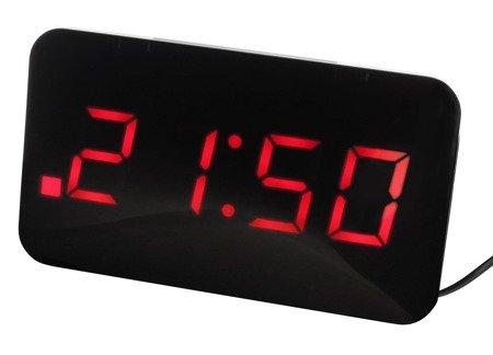 Budzik JVD SB24.1 Dwa alarmy, funkcja ładowarki