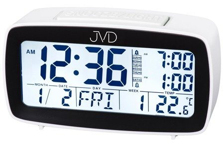 Budzik JVD SB82.4 Alarmy Termometr Sensor Light