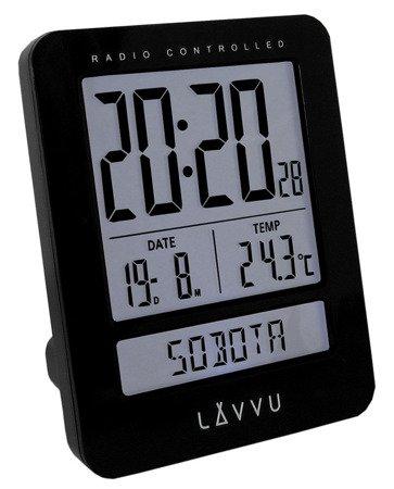 Budzik LAVVU LAR0021 Termometr DCF77 Dni Tygodnia PL