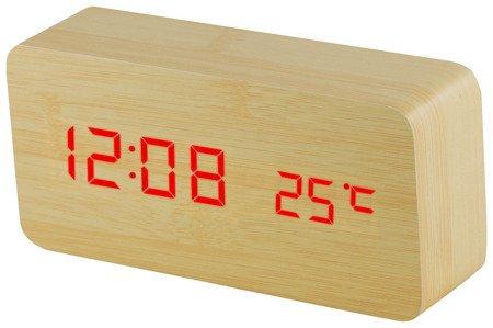 Budzik MPM C02.3564.51 termometr, 3 alarmy