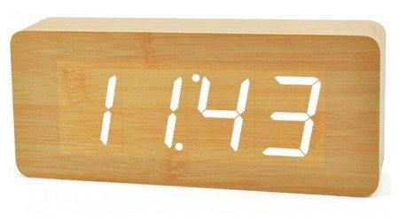 Budzik Xonix GHY-001K L.BR WH termometr, 3 alarmy