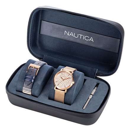 Damski zegarek Nautica Coral Gables NAPCGP908 Box Set