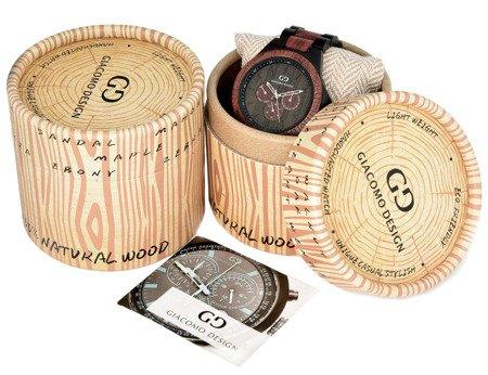 Drewniany zegarek Giacomo Design GD08303