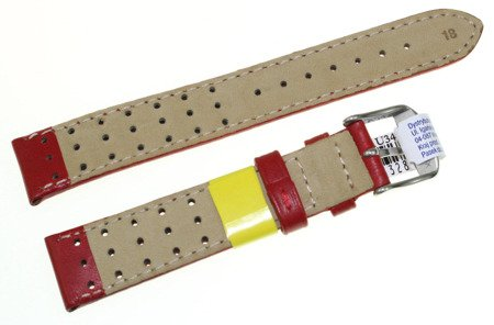 Skórzany wodoodporny pasek do zegarka 18 mm Morellato A01U3459237083CR18