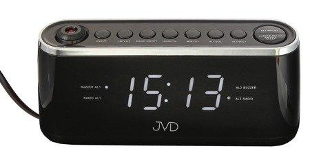 Zegar JVD SB97.3 z projekcją, Radio FM, 2 alarmy
