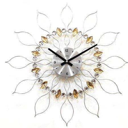 Zegar ścienny JVD HT106 z kryształkami, średnica 49 cm