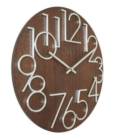 Zegar ścienny JVD HT99.3 Drewniany, średnica 30 cm