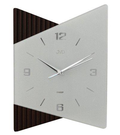 Zegar ścienny JVD NS13011.2 Szkło Drewno Cichy