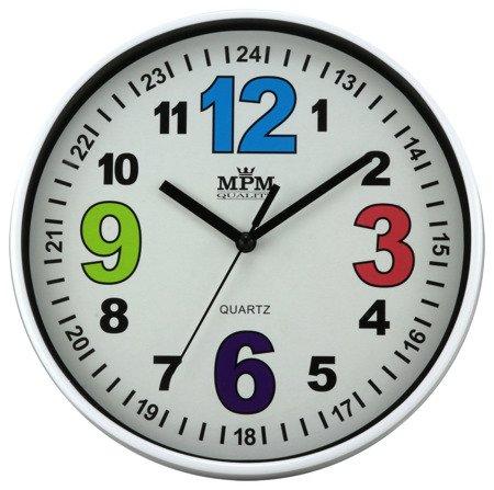 Zegar ścienny MPM E01.3686.00 fi 20 cm Kolorowy
