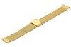 Bransoleta stalowa do zegarka 16 mm Bisset BM-101/16 Gold