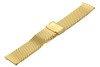 Bransoleta stalowa do zegarka 18 mm Bisset BM-102/18 Gold