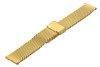 Bransoleta stalowa do zegarka 18 mm Bisset BM-102/18 Gold Mat